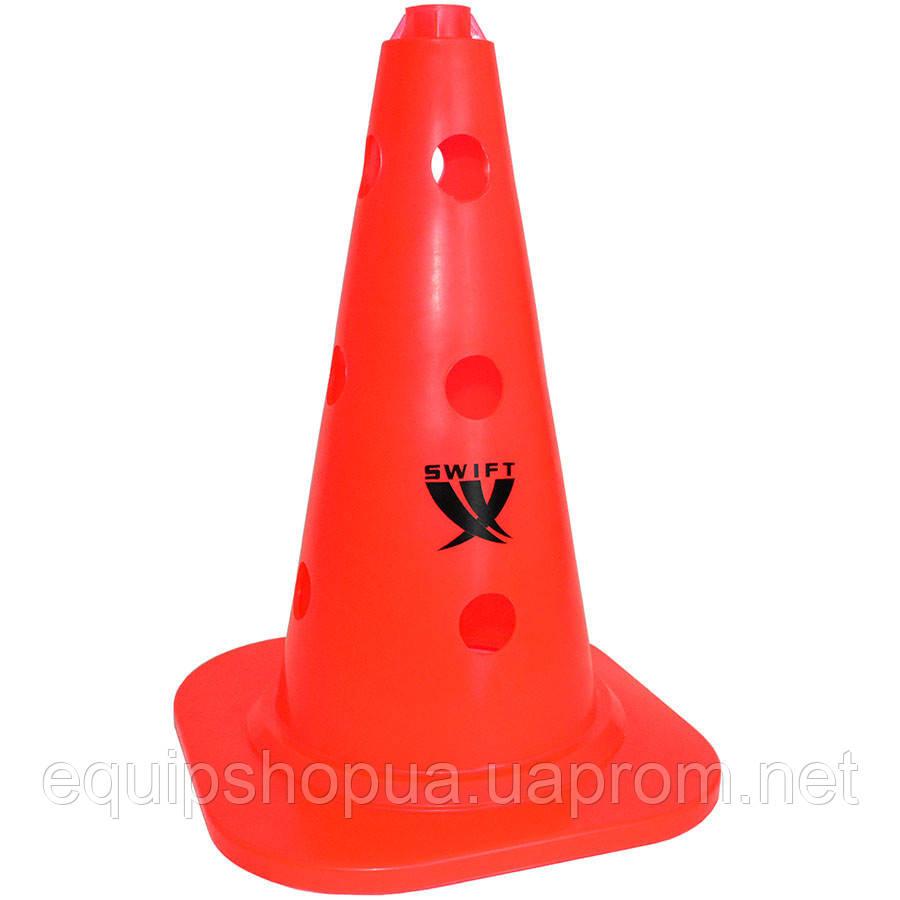 Конус тренировочный SWIFT Training cone with holes, 25 mm pole, 34 см, (оранжевый),