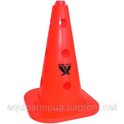 Конус тренировочный SWIFT Training cone with holes, 25 mm pole, 34 см, (оранжевый),, фото 2