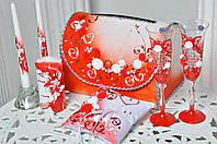 Свадебный набор аксессуаров Bonita в Красном цвете 7 предметов