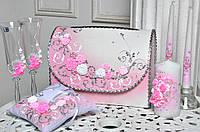 Свадебный набор аксессуаров Bonita в Розовом цвете 7 предметов
