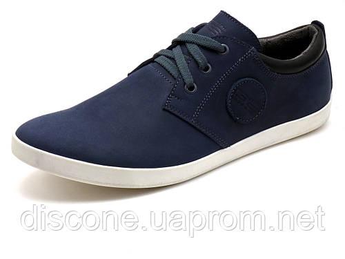Спортивные туфли GS-comfort мужские  натуральная кожа, темно-синие, Турция