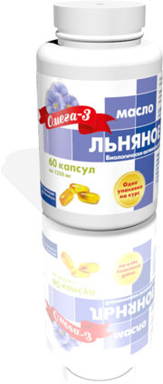 Масло льняное, 60 капсул по 1000 мг, РеалКапс
