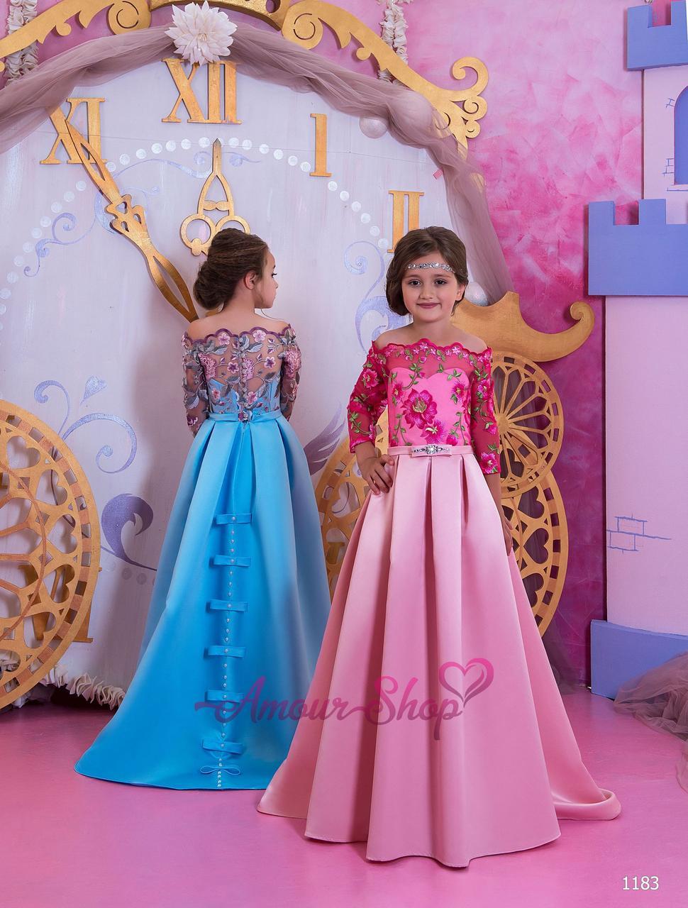 Дитяче нарядне плаття на дівчинку 4,5,6,7,8,9,10,11 років (випускний, в садочок, 4 клас), 1183