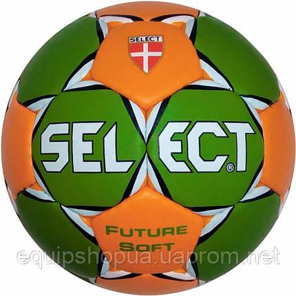 Мяч гандбольный SELECT FUTURE SOFT MICRO (зел/оранж) р.00, фото 2