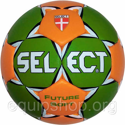 Мяч гандбольный SELECT FUTURE SOFT (52-54 см) (зел/оранж) р.1,5, фото 2