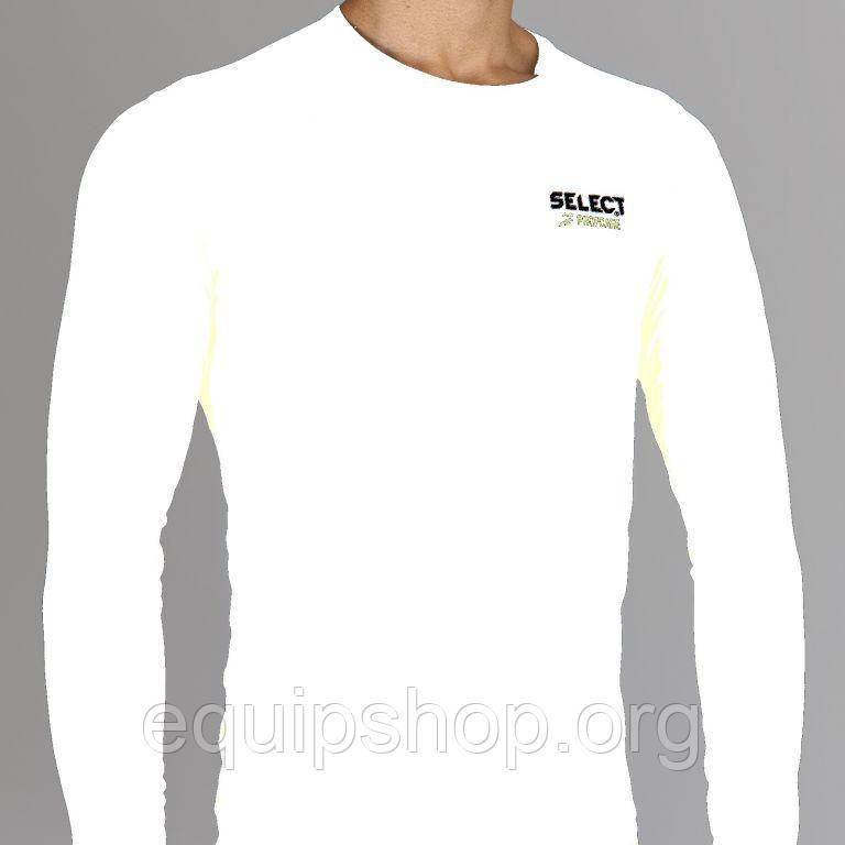 Термобельё SELECT Compression T-Shirt with long sleeves 6901 белый p.M