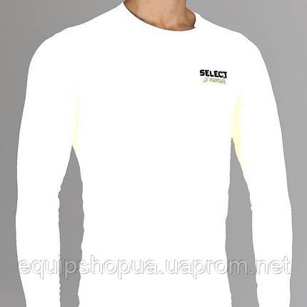 Термобельё SELECT Compression T-Shirt with long sleeves 6901 белый p.M, фото 2