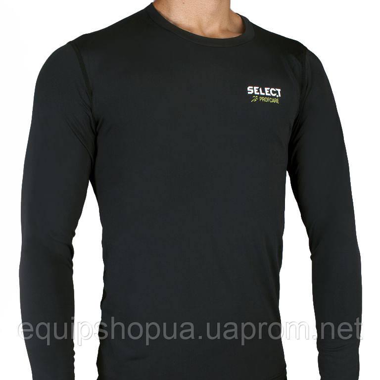 Термобельё SELECT Compression T-Shirt with long sleeves 6901 черный p.M