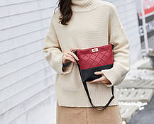 Милая двухцветная сумочка на ремешке, фото 3