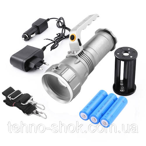 Ліхтар переносний Police K03-T6, 3x18650, ЗУ 12V/220V, zoom, BOX