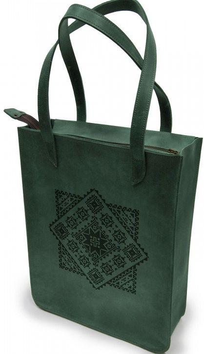 Женская сумка BermuD Украинский узор М29, B 18-18Z-29-19 из натуральной кожи