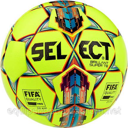 Мяч футбольный SELECT Brillant Super FIFA TB ((042) желто/красный) размер 5, фото 2