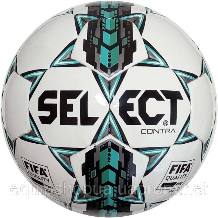 Мяч футбольный SELECT Contra FIFA (305) бел/сер/голуб размер 4