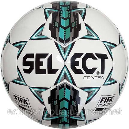 Мяч футбольный SELECT Contra FIFA (305) бел/сер/голуб размер 4, фото 2