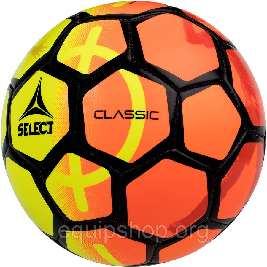 Мяч футбольный SELECT Classic New (011) желт/оранж размер 5