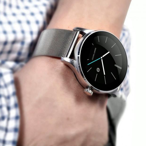 Смарт часы Uwatch K88H (silver) с IPS дисплеем и металлическим корпусом