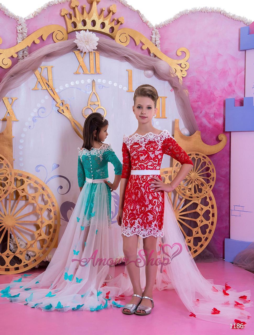 Детское нарядное платье на девочку 4,5,6,7,8,9,10,11лет (выпускной, в садик, 4 класс),  1186