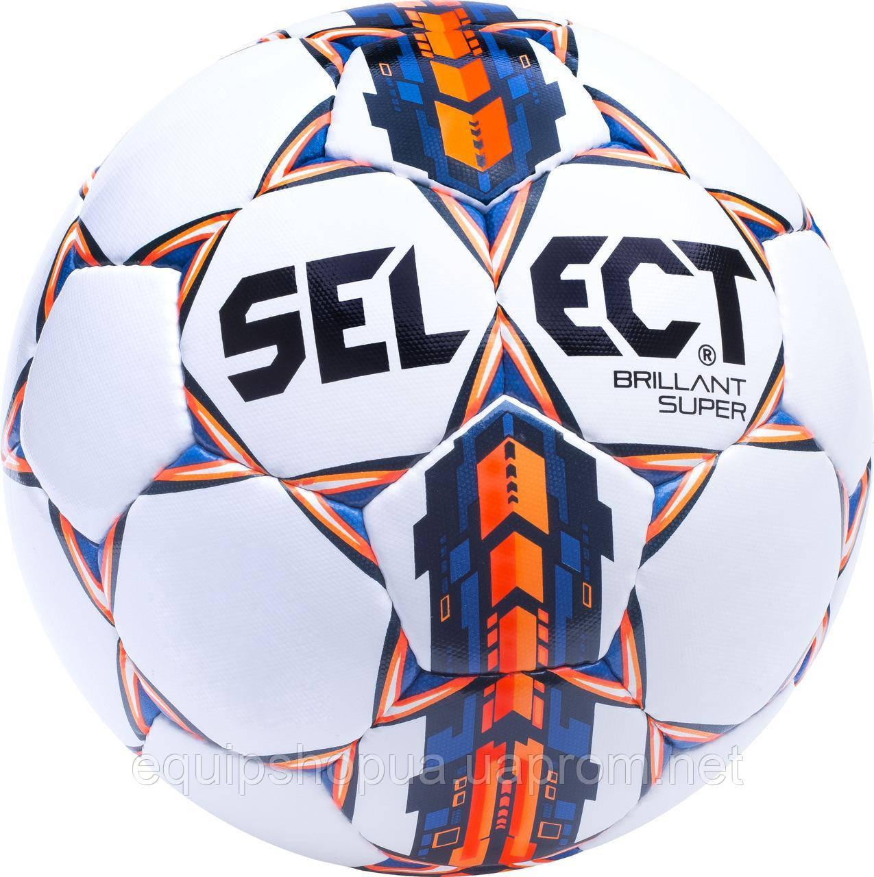 Мяч футбольный SELECT Brillant Super (001) белый размер 5