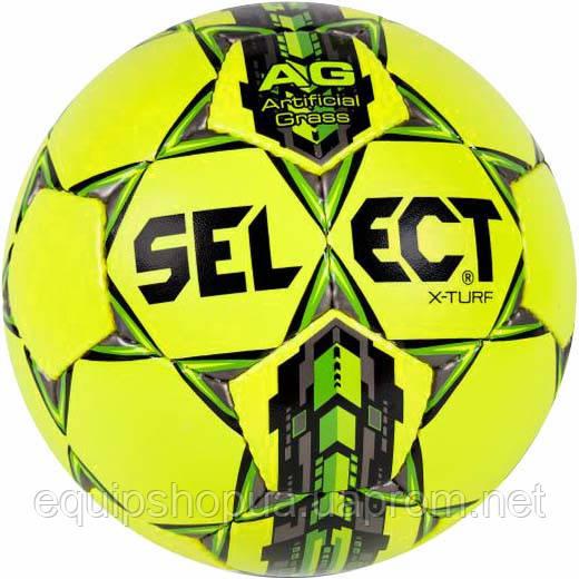 Мяч футбольный SELECT X-Turf желтый, размер 4