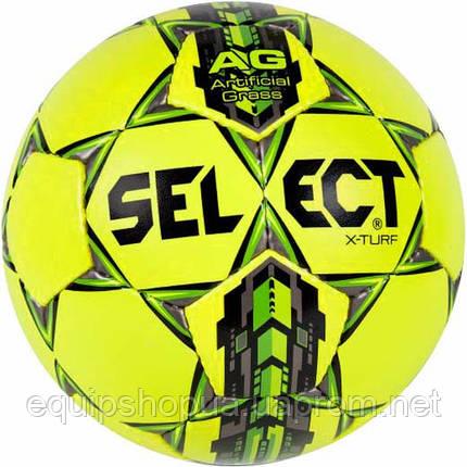 Мяч футбольный SELECT X-Turf желтый, размер 4, фото 2
