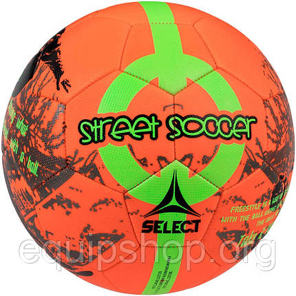 Мяч футбольный SELECT Street Soccer New (207) оранж/зел, размер 4,5, фото 2