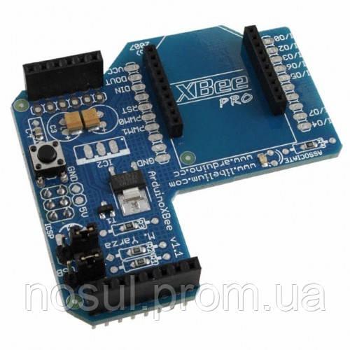 Плата Arduino XBee Shield для подключения радиомодуля XBee Сам радиомодуль Xbee продается отдельно  Shield XBe - ЧП Носуль С. А. +38(066,093)4358285 (Telegram: @nosul) +380949643586 (Viber) sergey@nosul.com.ua в Кременчуге