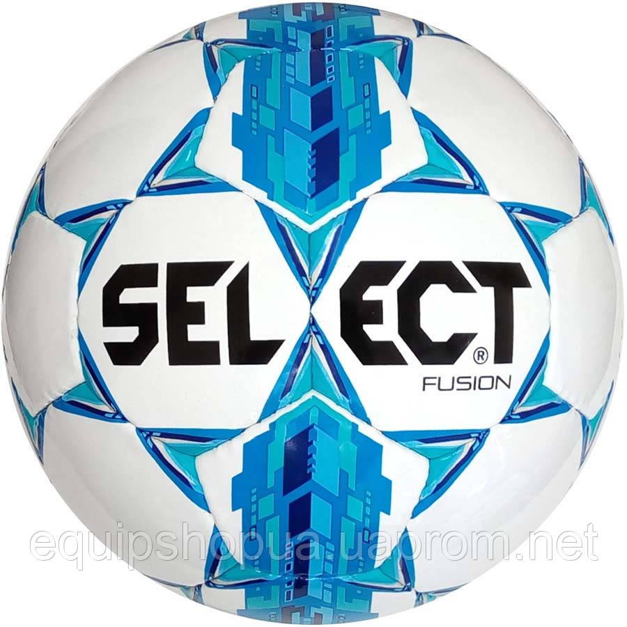 Мяч футбольный SELECT Fusion ((005) бел/син), размер 4