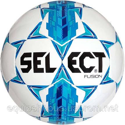 Мяч футбольный SELECT Fusion ((005) бел/син), размер 4, фото 2
