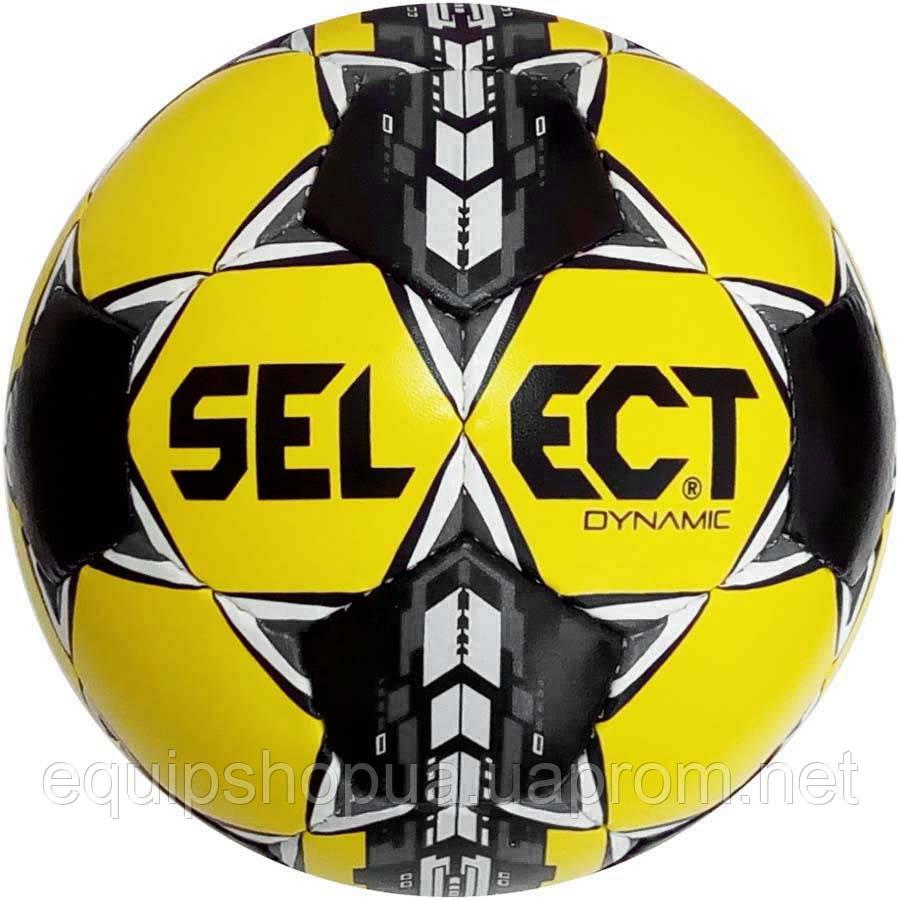 Мяч футбольный SELECT Dynamic (014) желт/черн/серый размер 5