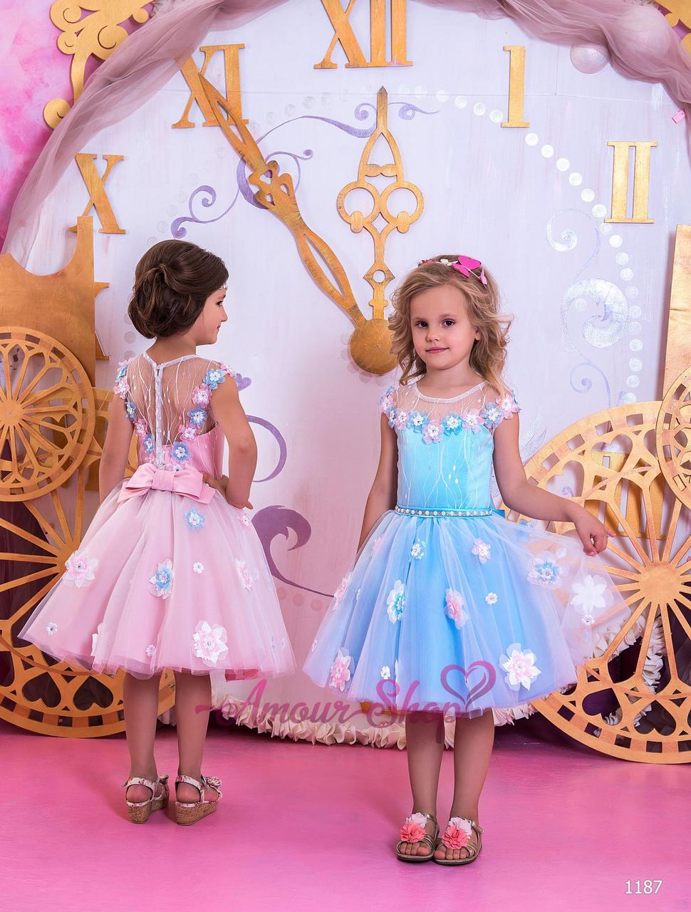 Детское нарядное платье на девочку 4,5,6,7,8,9,10,11лет (выпускной, в садик, 4 класс),  1187