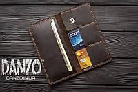 Мужское кожаное портмоне кошелек FortSmith коричневый, фото 1