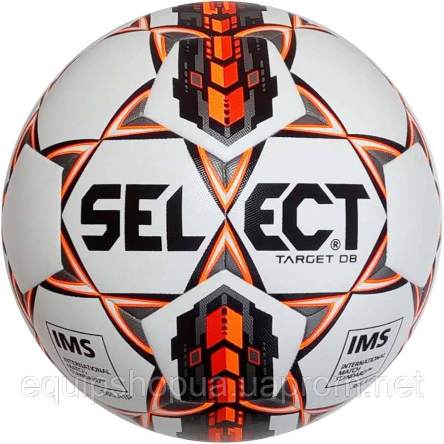 Мяч футбольный SELECT Target DB IMS (403) бел/оранж/черн, размер 5