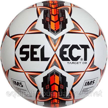 Мяч футбольный SELECT Target DB IMS (403) бел/оранж/черн, размер 5, фото 2
