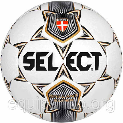 Мяч футбольный SELECT Brillant Super (001) бел/сер/корич/чер размер 5, фото 2