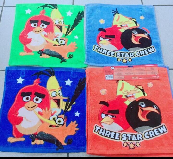 Набор полотенец Angry Birds оптом, 35*35 см.
