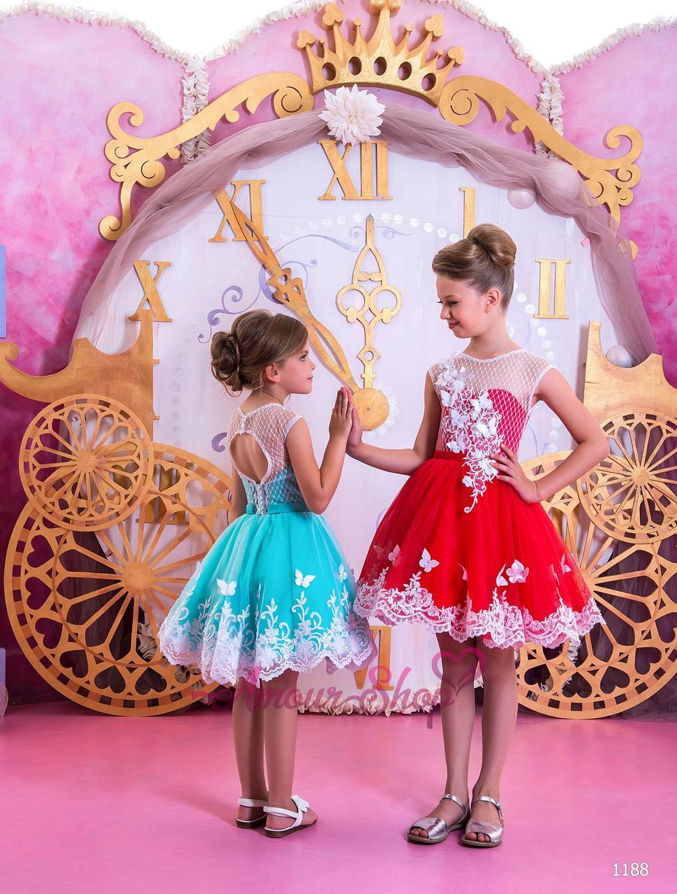 Дитяче нарядне плаття на дівчинку 4,5,6,7,8,9,10,11 років (випускний, в садочок, 4 клас), 1188