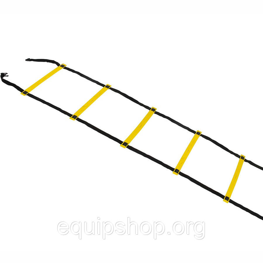 Координационная лестница SELECT Agility ladder - outdoors, желт/черн (14 ступеней, 6 м)