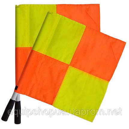 Флажок Лайнсмена Аматорский SWIFT Lineman's flag Classic, 2 флага ,желт/кр, фото 2