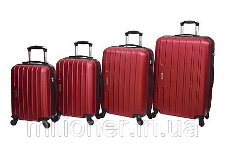 Чемодан Siker Line набор 4 шт. бордовый, фото 2