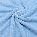 """Лоскут ткани  """"Махровые minky"""" голубого цвета (М-75), размер 50*160 см, фото 2"""