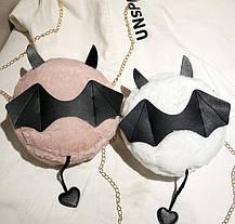 Милі плюшеві сумочки з крильцями ріжками і хвостиком, фото 2