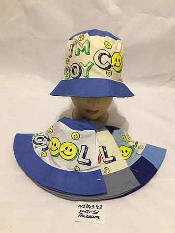 Летняя детская панамка для мальчика Смайлик р.50-52, фото 2