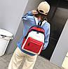 Стильный тканевый рюкзак для учебы и спорта, фото 4