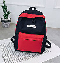 Стильный тканевый рюкзак для учебы и спорта, фото 2
