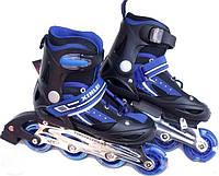 Роликовые коньки ролики раздвижные с алюминиевой рамой размер 29-32, 33-36, 37-40