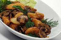 Тушеная картошка с грибами 300 г