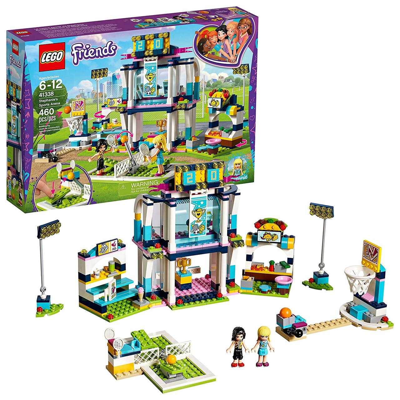 Lego Friends 41338 Stephanies Sports Arena. Стадіон Стефані (Конструктор Лего Френдс Стадион Стефани)