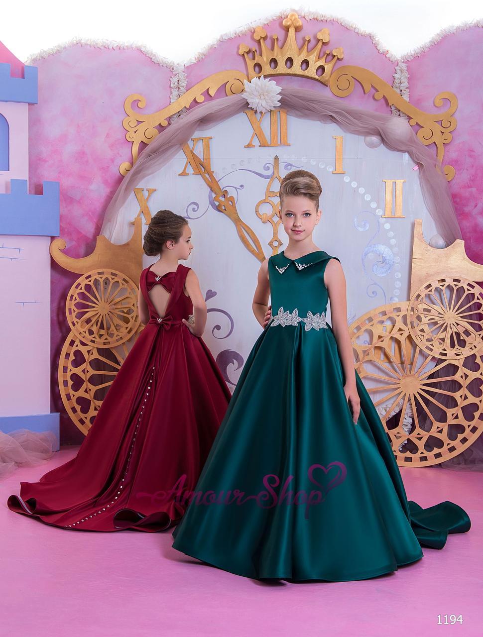 Детское нарядное платье на девочку 4, 5, 6, 7, 8, 9,10,11лет (выпускной, в садик, 4 класс),  1194