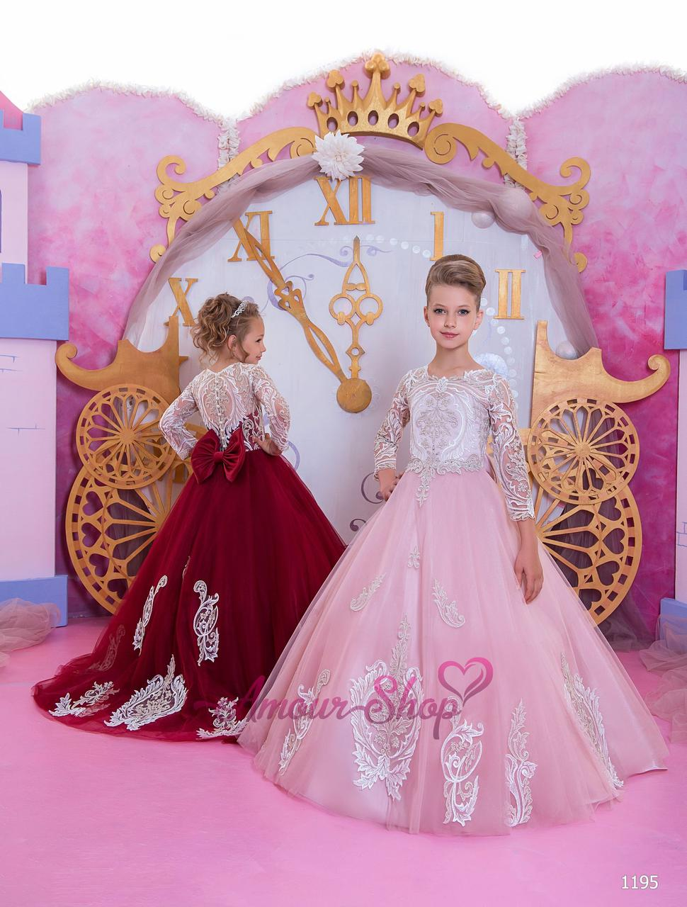 Дитяче нарядне плаття на дівчинку 4, 5, 6, 7, 8, 9,10,11 років (випускний, в садочок, 4 клас), 1195