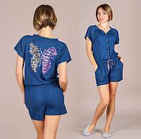 48da722006c4 Женский домашний комбинезон-пижама с шортами 083